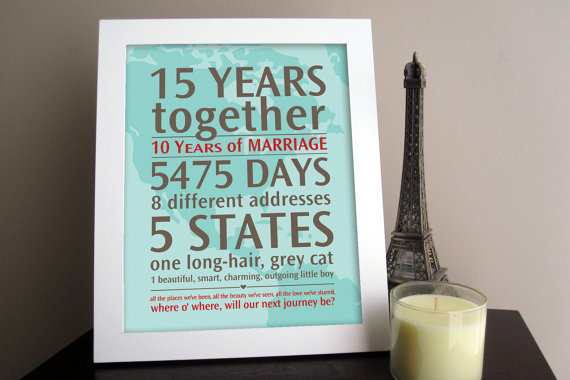 3 Year Wedding Anniversary Gift Ideas For Wife : wedding anniversary custom art