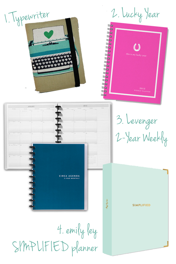 2013 weekly/monthly planners