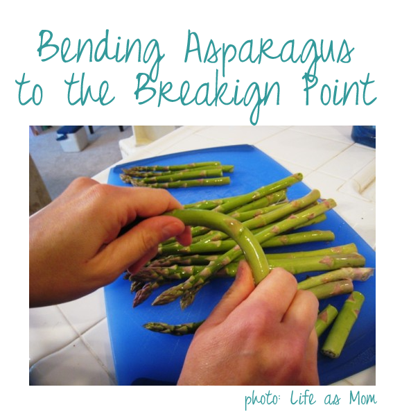 breaking asparagus