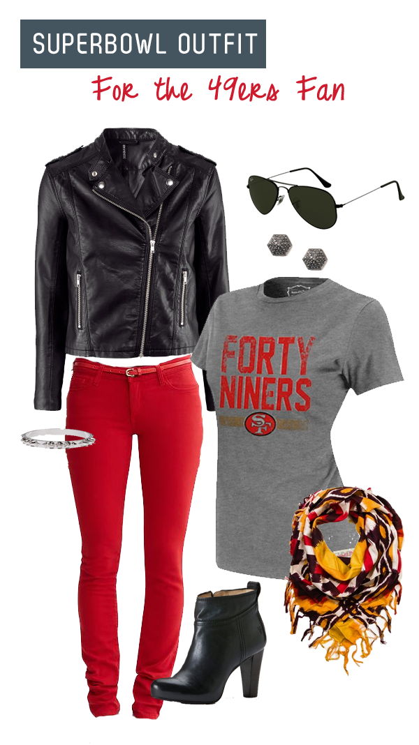 Superbowl outfit - 49ers fan
