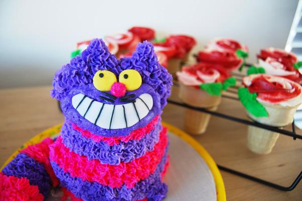 cheshire cat smash cake