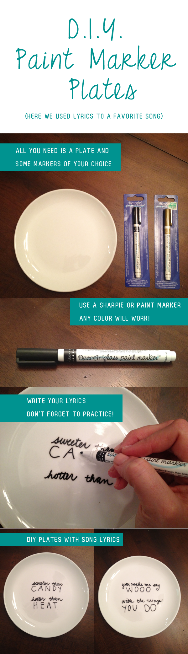 diy paint marker plates