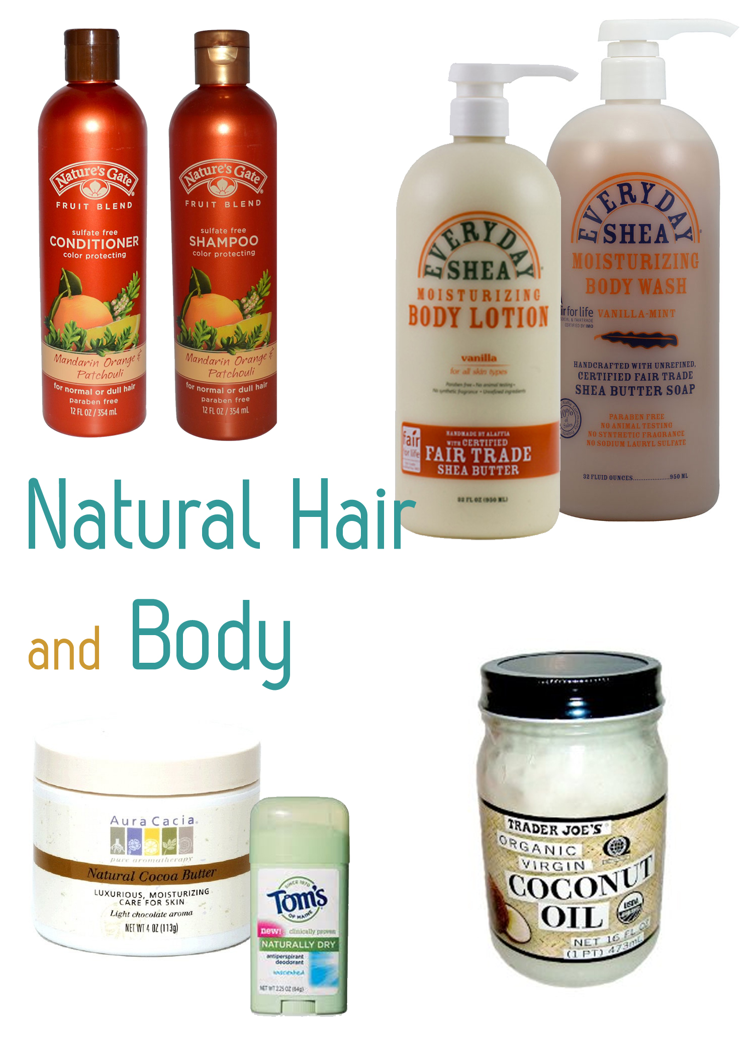 Paraben and Sulfate Free Body Products