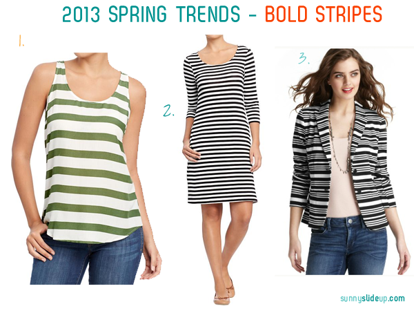 spring trend bold stripes