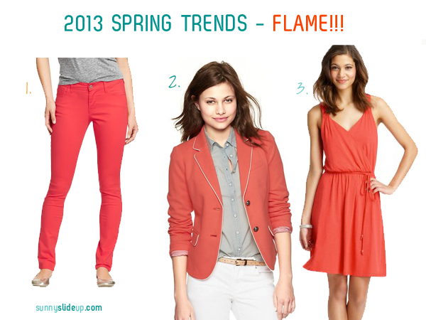 spring trend color flame