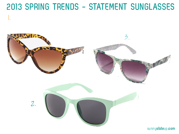 spring trend statement sunglasses