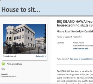 Hawaii Housesitting