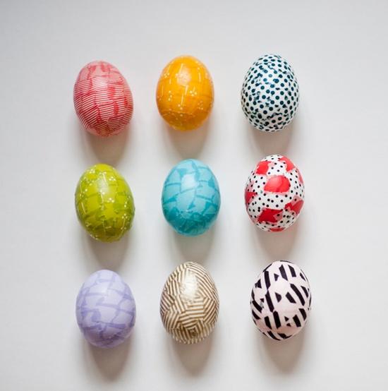 washi tape easter egg