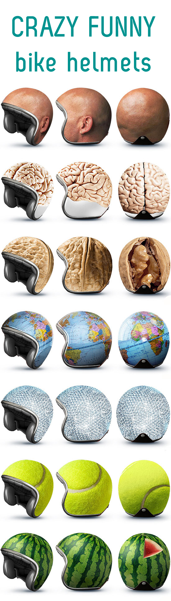 funny bike helmets