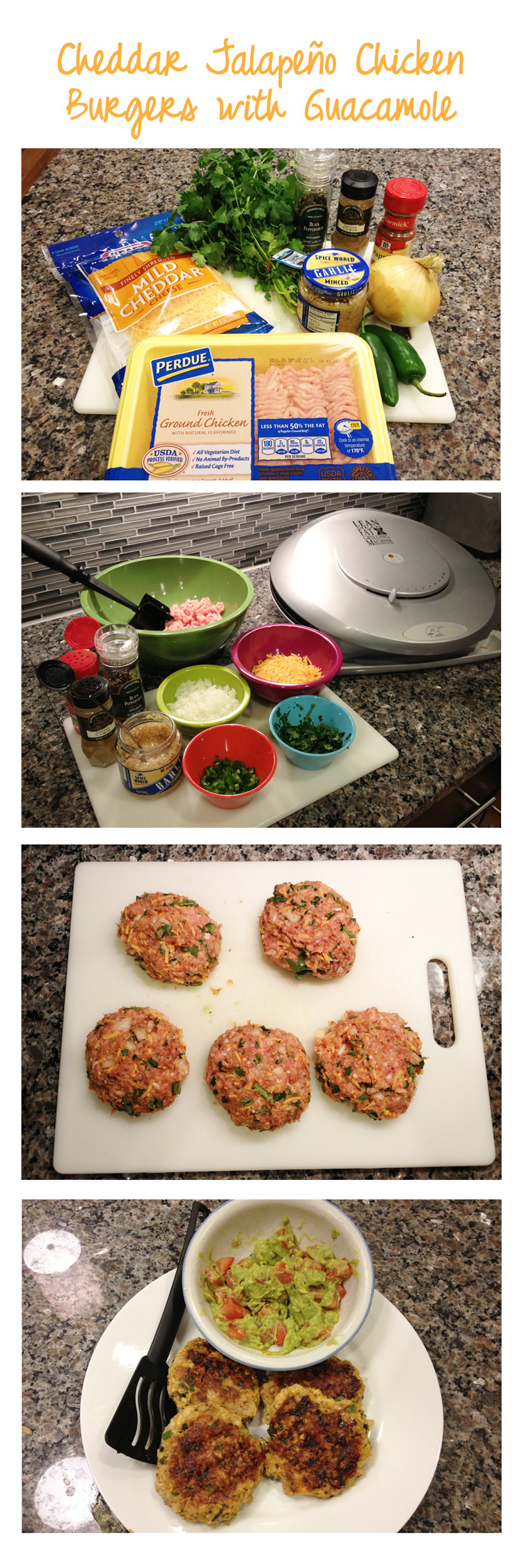 Cheddar Jalapeno Chicken Burgers With Guacamole Recipe ...