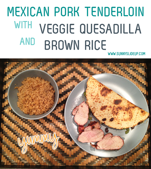 mexican pork tenderloin meal