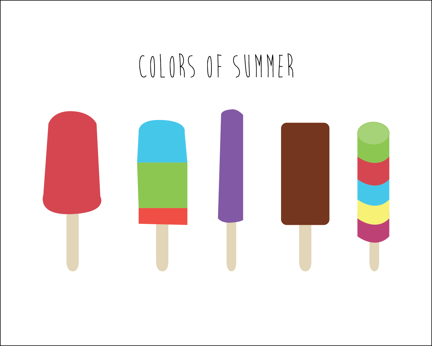 colors of summer printable