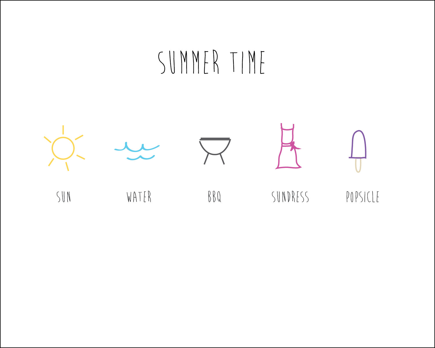 summer time printable