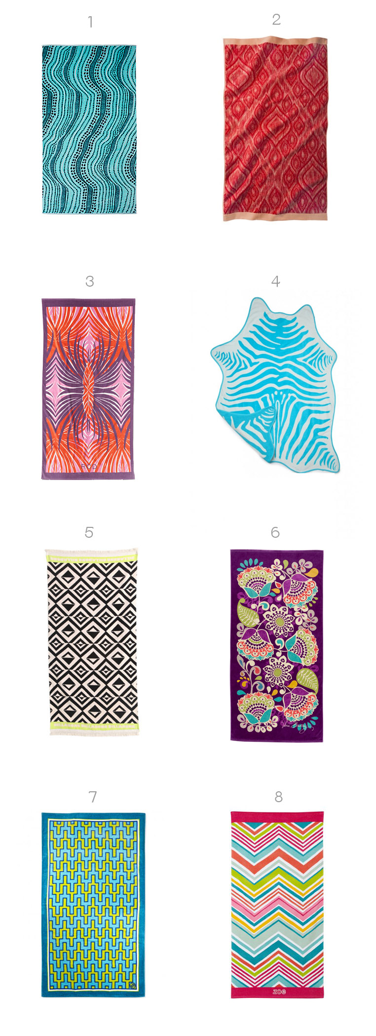 Stylish Beach Towels 2013
