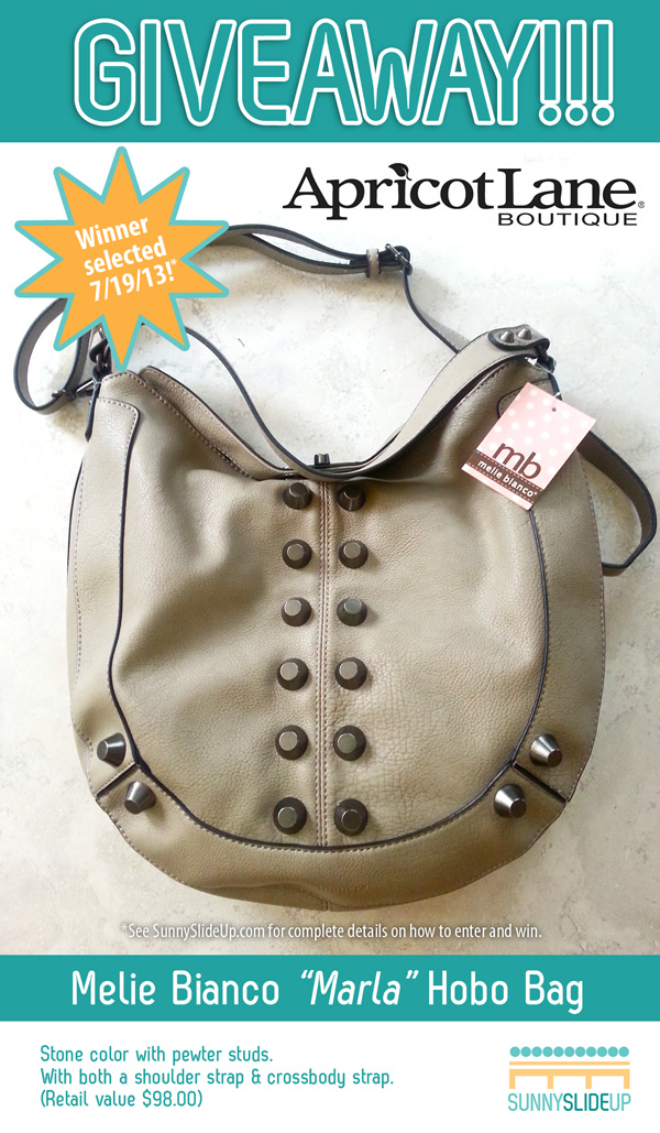 Sunny Slide Up Giveaway Apricot Lane Charlotte Melie Bianco Hobo Bag