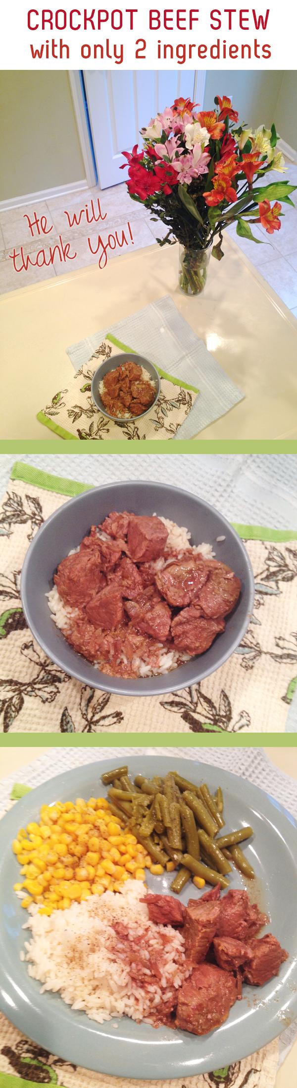 easy weeknight crockpot beef stew