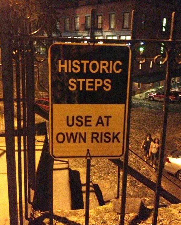 historic steps in savannah