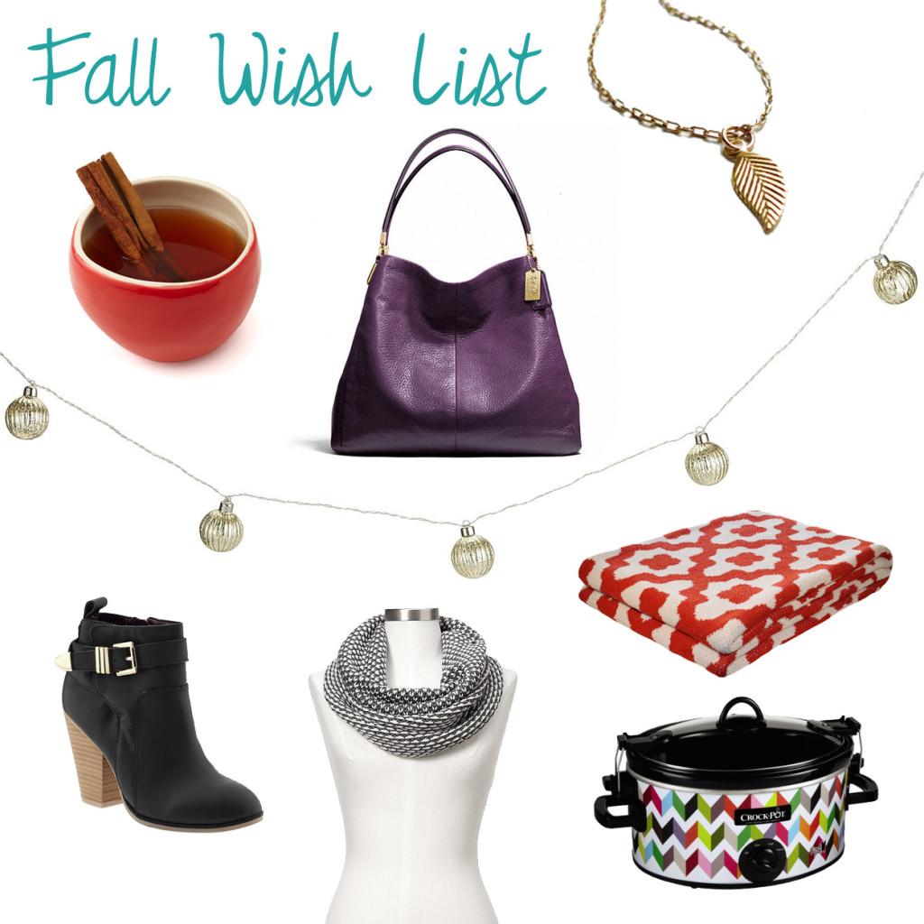Fall Wish List - Sunny Slide Up