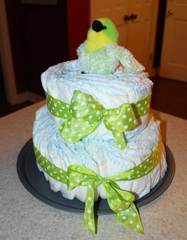 baby shower nappy cake instructions