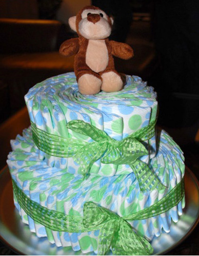 how to build your own diaper cake