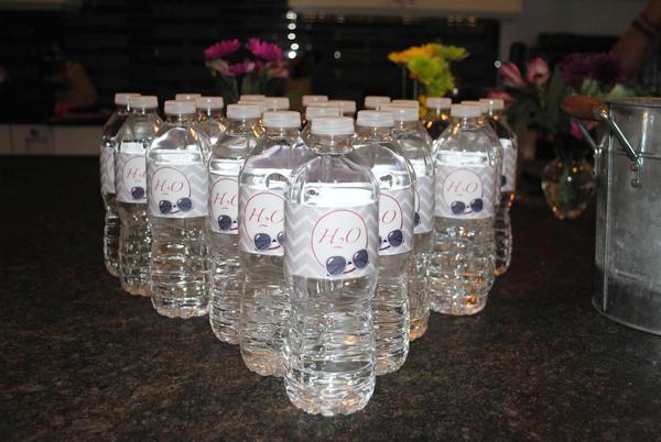 baby shower water bottles