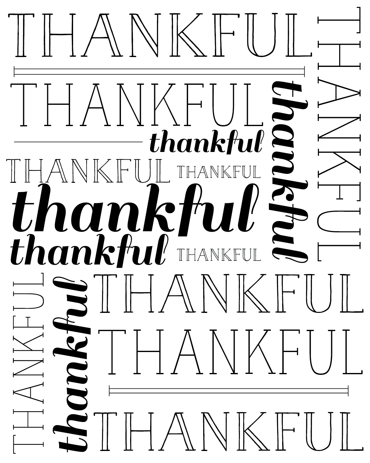 thankful free printable