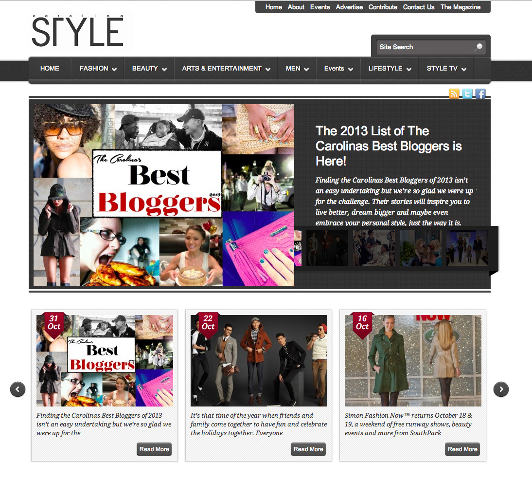 Carolina Style Magazine Best Bloggers 2013 Awards