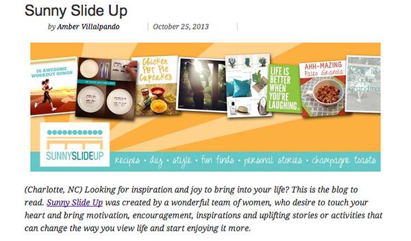 Sunny Slide Up Blog Carolinas
