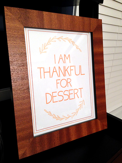 thankful for dessert printable