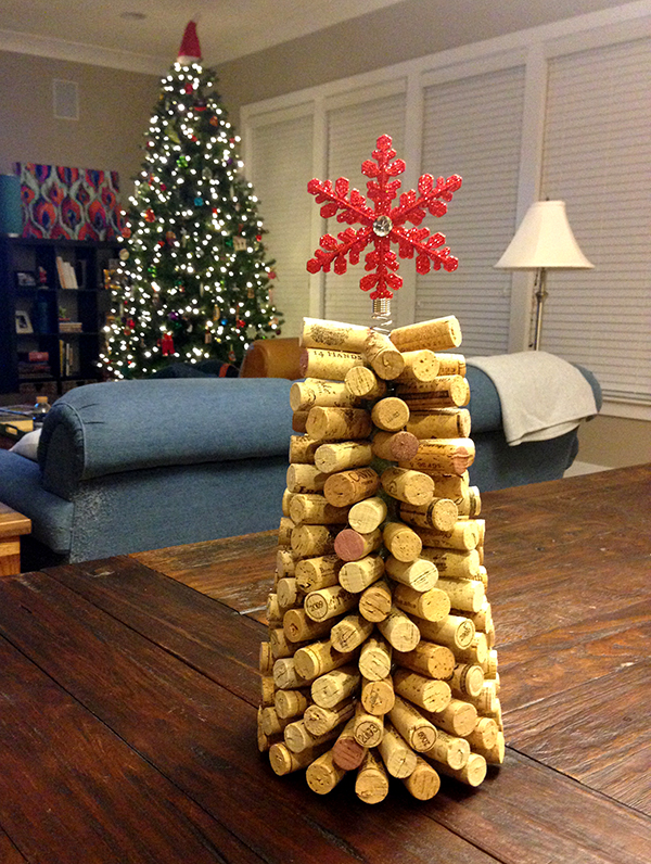 Wine Cork Christmas Tree Gift DIY
