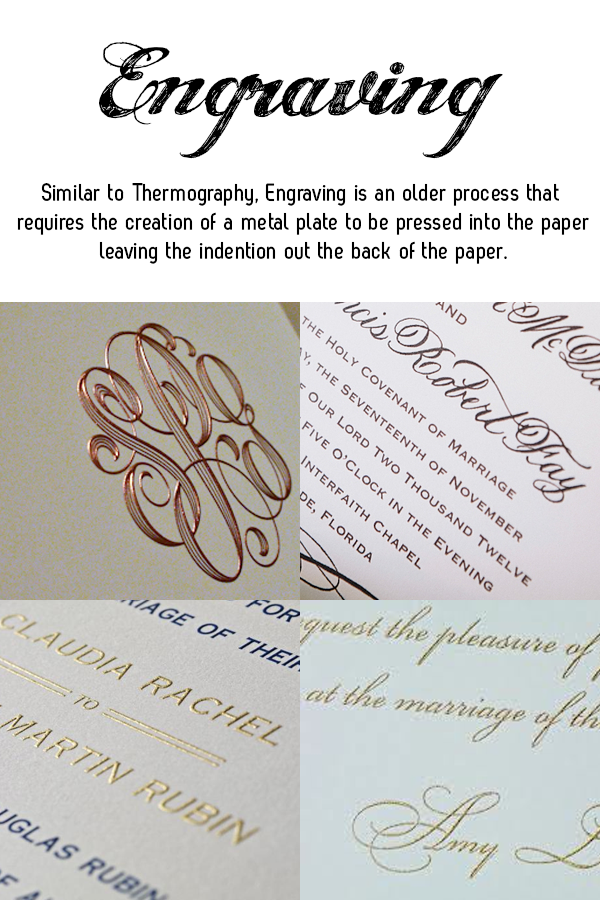 engraving wedding invitation