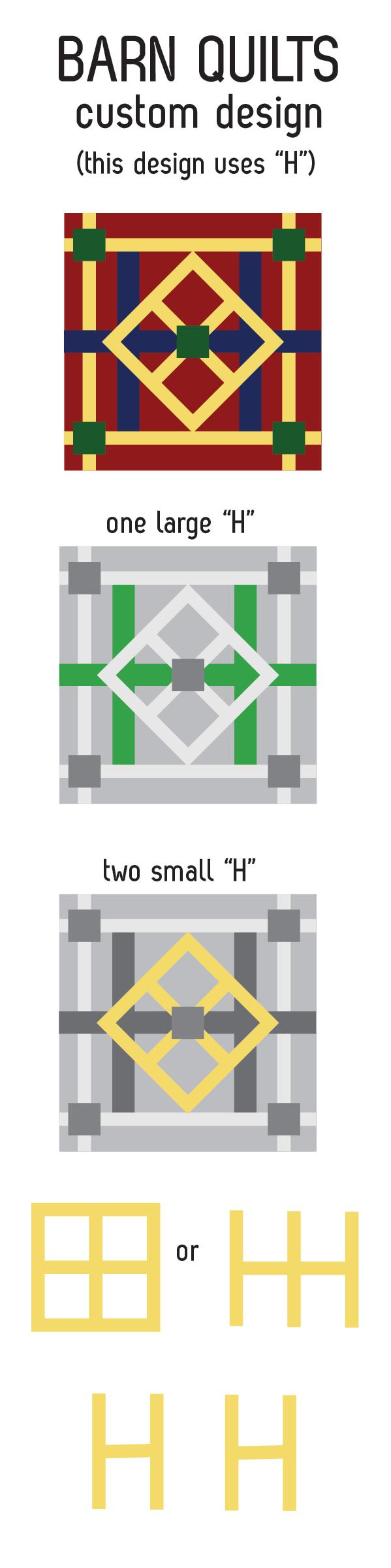 custom barn quilt design