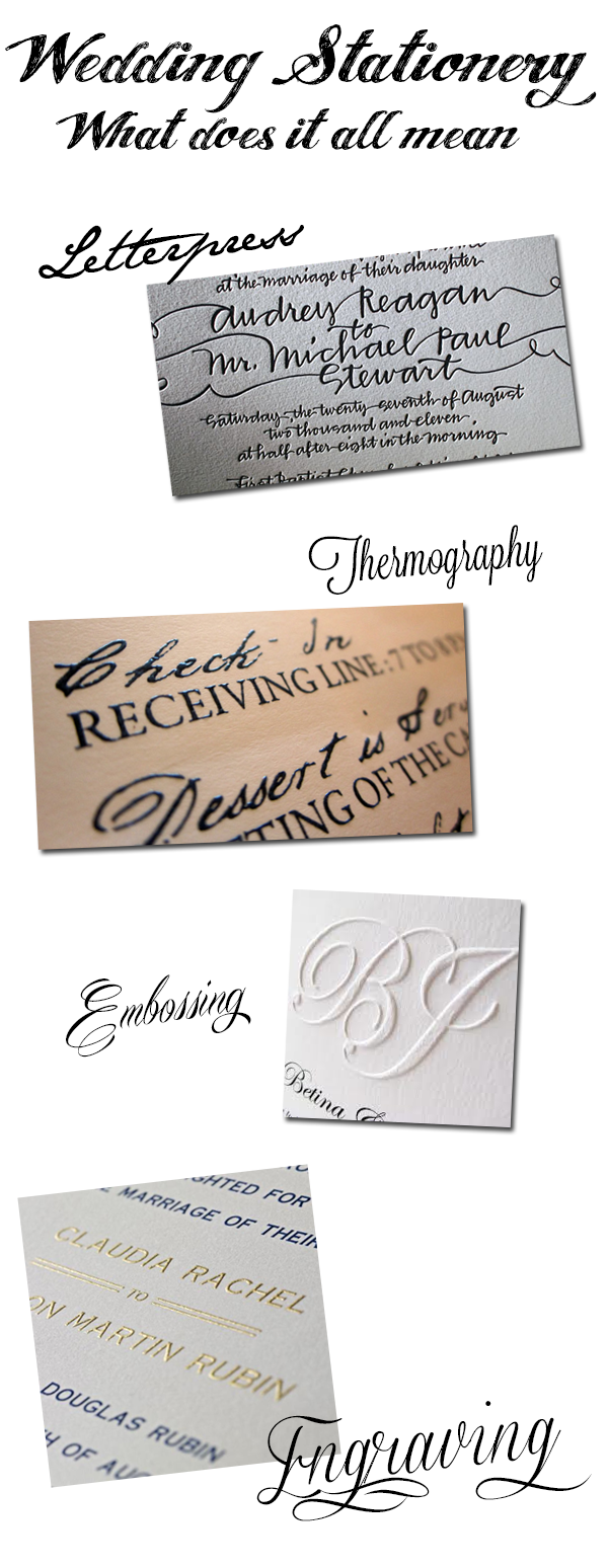 wedding stationery styles of printing
