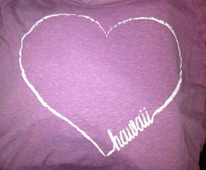 hawaiian love t-shirt