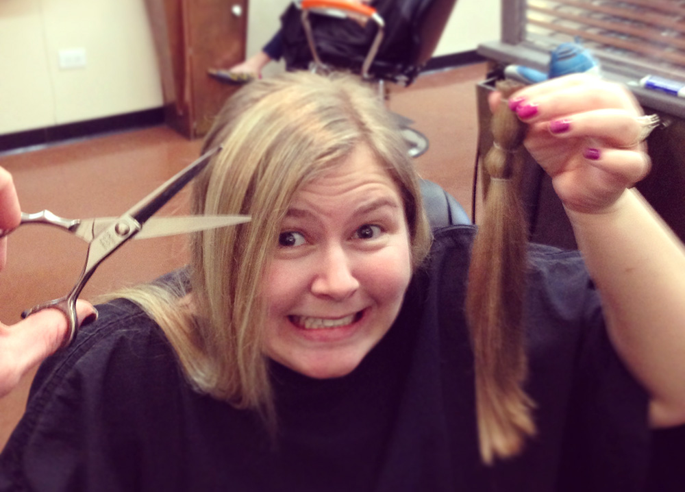 chop it off and donate hair