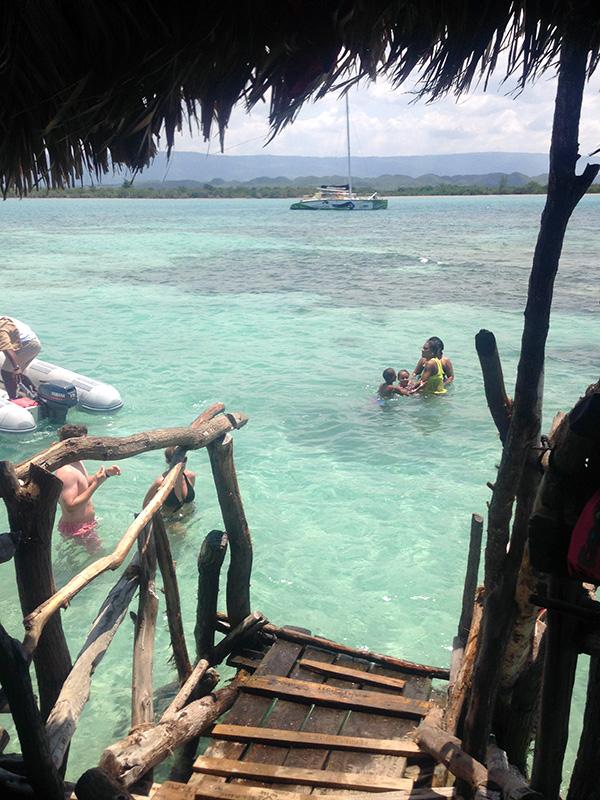 Inside Floyds Pelican Bar Jamaica