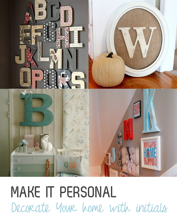 initial decor for your home