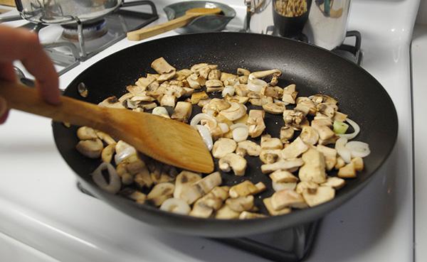 mushrooms for quesadilla