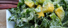 kale and avocado salad with creamy cilantro dressing – alivia jane