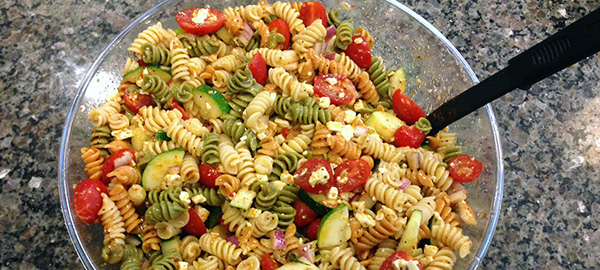 super easy quick pasta salad