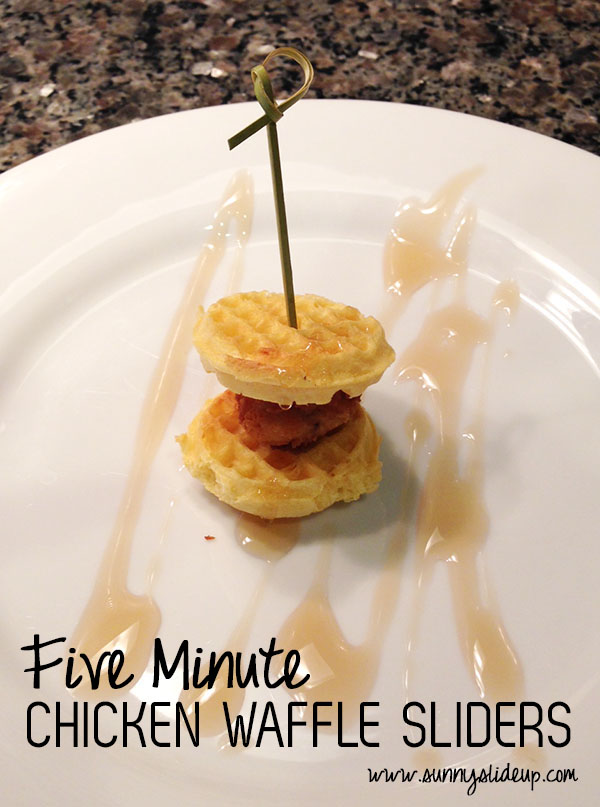 5 Minute Chicken Waffle Sliders