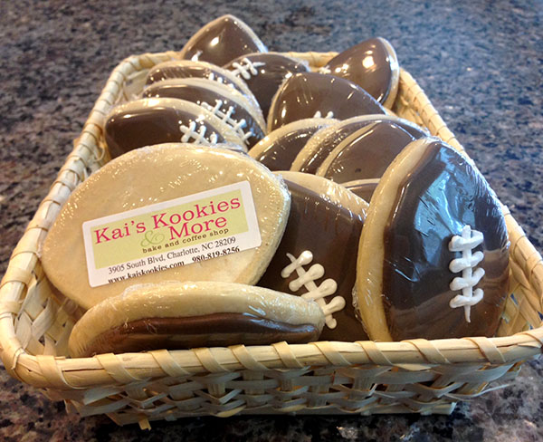 Football Cookies From Kais Kookies Charlotte NC