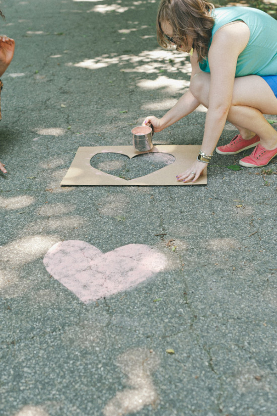DIY Sidewalk Driveway Party Art