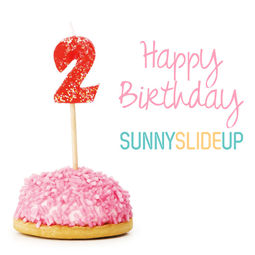 Happy Birthday Sunny Slide Up