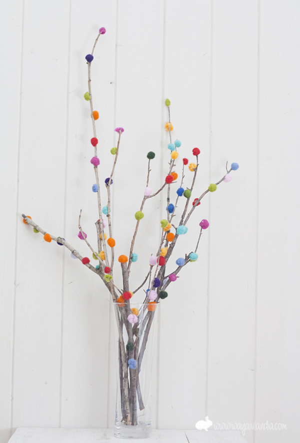 Pom Pom Party Branches DIY