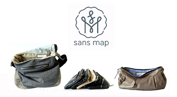 Sans Map Vintage Fabric Bags