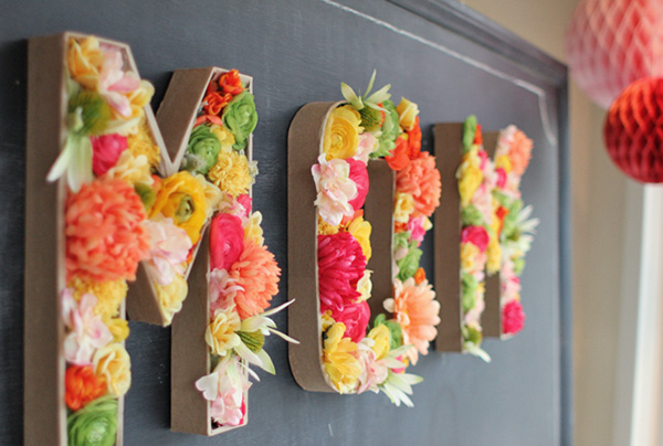 diy blooming letters