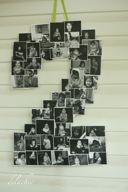 diy number or letter photo display