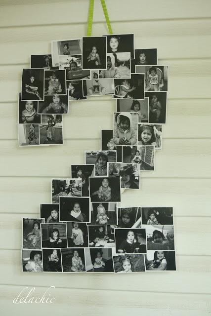 diy number or letter photo display