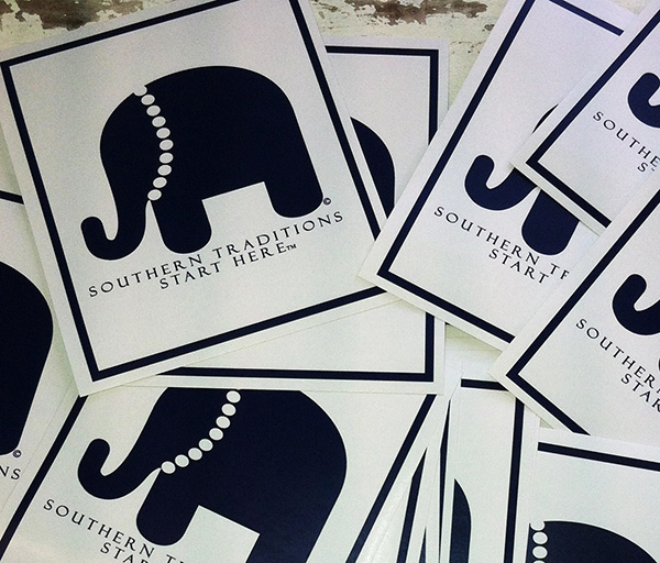 elephant decal southern traditions dixie peaches
